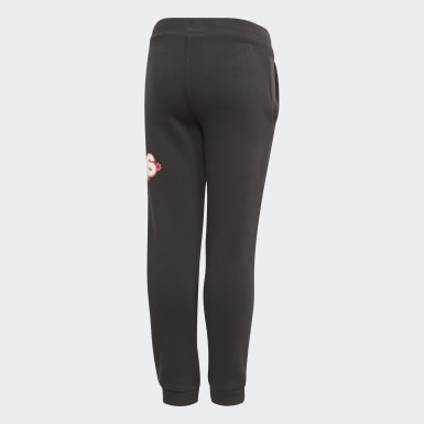 Girls Training Black Long Fleece Pants