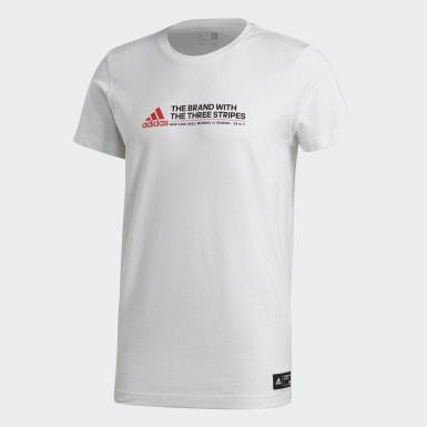 T-shirt London Bus Hustle Bianco Uomo Athletics