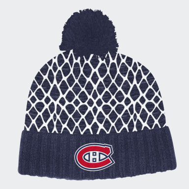 Men Hockey Multicolor Montreal Canadiens Cuffed Knit Pom Hat