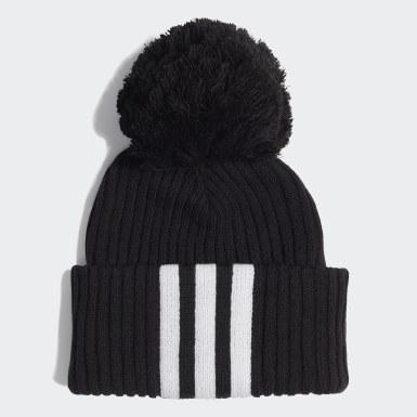 Deti Zimné Športy čierna Čiapka 3-Stripes