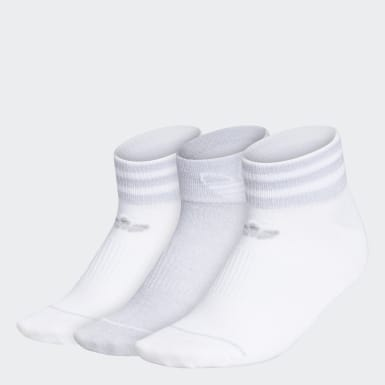 Women's Originals White 3-Stripes Ankle Socks 3 Pairs