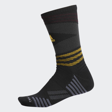 Men's Running Black Speed Mesh Team Crew Socks