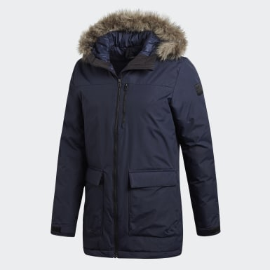 Männer City Outdoor Xploric Parka Blau