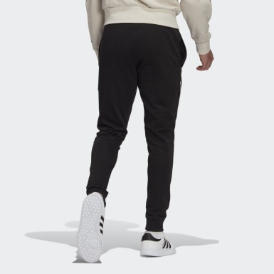 Men Sport Inspired Black Essentials Logo Pants