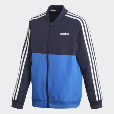 Pants Con Sudadera Yb Ts Woven Azul Niño Training