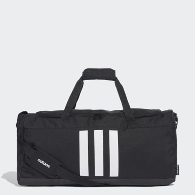 Lifestyle Black 3-Stripes Duffel Bag Medium