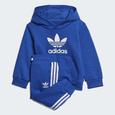 Conjunto Trefoil Hoodie Azul Kids Originals