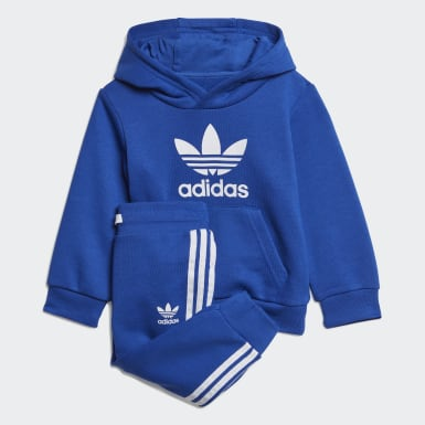 Infants Originals Blue Trefoil Hoodie Set