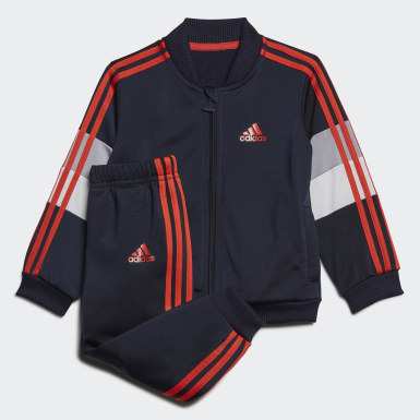 Kids Training Blue Shiny Tracksuit