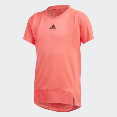 Dívky Trénink růžová Tričko HEAT.RDY