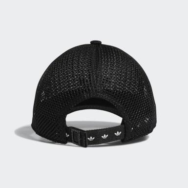 Women's Originals Black Mesh Strap-Back Hat