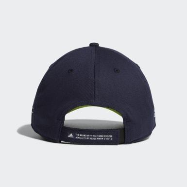 ผู้ชาย กอล์ฟ สีน้ำเงิน หมวกแก๊ปผ้าทวิล