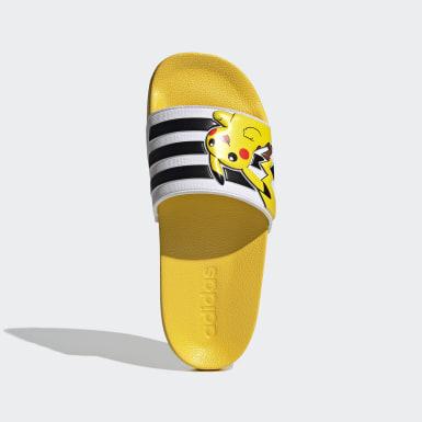 เด็ก ว่ายน้ำ สีเหลือง รองเท้าแตะ Adilette Shower