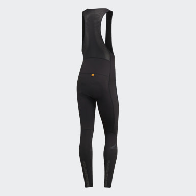 Men Cycling Black adistar Padded Winter Bib Tights