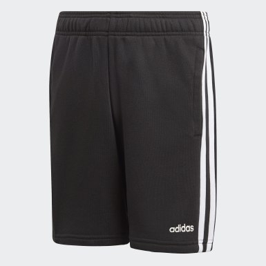 Boys Lifestyle Black Essentials 3-Stripes Knit Shorts