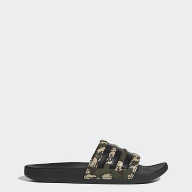 adilette Cloudfoam Plus Mono sandaler Grønn