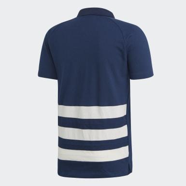 Koszulka polo Francuskiej Federacji Piłki Ręcznej Niebieski