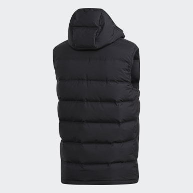 Men City Outdoor Black Helionic Hooded Down Vest