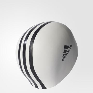Gorra de Natación 3 Tiras (UNISEX) Blanco Natación