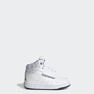 Tenis Hoops Mid 2.0 (UNISEX) Blanco Niño Essentials