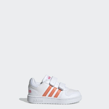 Infant Sport Inspired White Hoops 2.0 Shoes