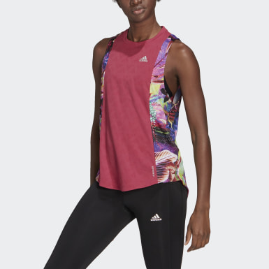 Women Running Pink Own The Run Floral Tank Top