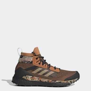Men TERREX Brown Terrex Free Hiker Hiking Shoes