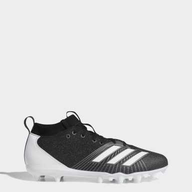 American Football Black Adizero Spark Cleats