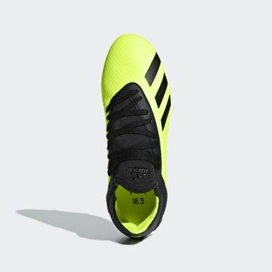 Chaussure X 18.3 Terrain souple Jaune Enfants Football