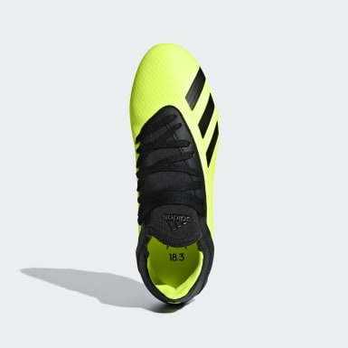 Kids Football Yellow X 18.3 Firm Ground Boots