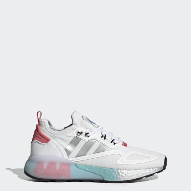 Women Originals White ZX 2K Boost Shoes