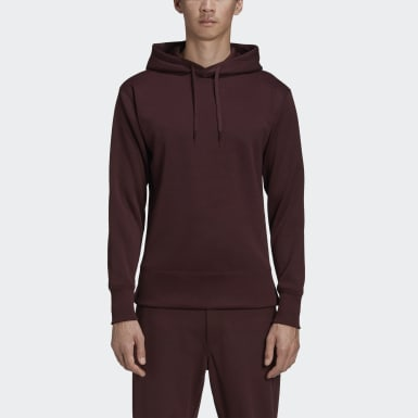 Heren Y-3 Bordeaux Y-3 CH2 Graphic Hoodie