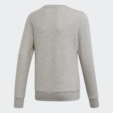 серый Джемпер для фитнеса Linear Trefoil