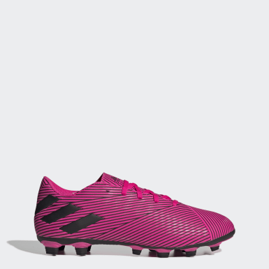 Men Football Pink Nemeziz 19.4 Flexible Ground Boots