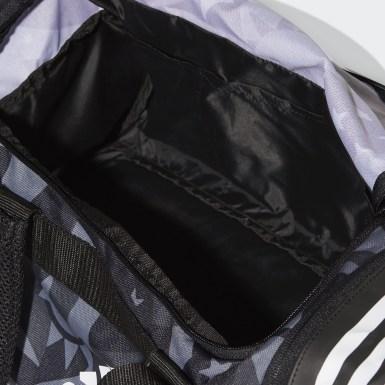 Training 3-Streifen Convertible Graphic Duffelbag S Schwarz