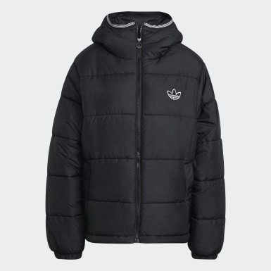 Men's Originals Black Padded Hooded Puffer Jacket