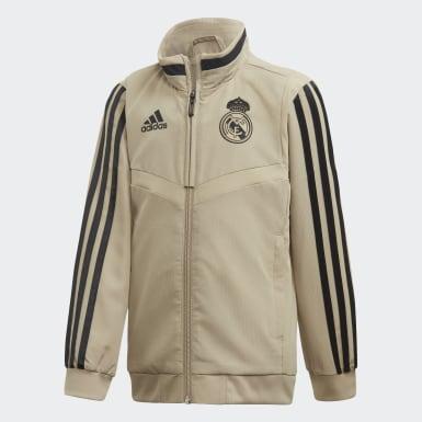 Kids Football Gold Real Madrid Presentation Tracksuit