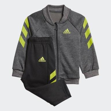 Kinder Training Mini Me Trainingsanzug Grau
