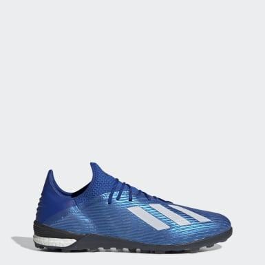 Guayos X 19.1 Pasto Sintético Azul Hombre Fútbol