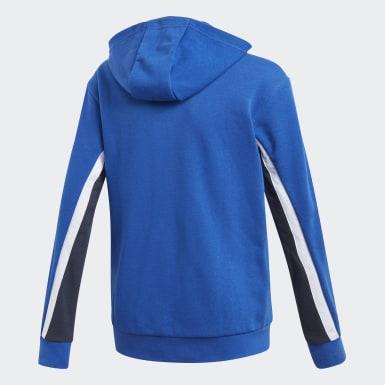 Kluci Trénink modrá Mikina Bold Full-Zip