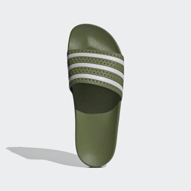 Originals zelená Pantofle Adilette
