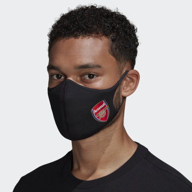 Men Lifestyle Black Arsenal Face Covers M/L 3-Pack