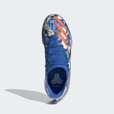 Zapatilla de fútbol X Ghosted.3 moqueta Azul Niño Fútbol