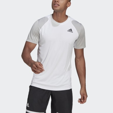 Men Tennis White Club Tennis T-Shirt