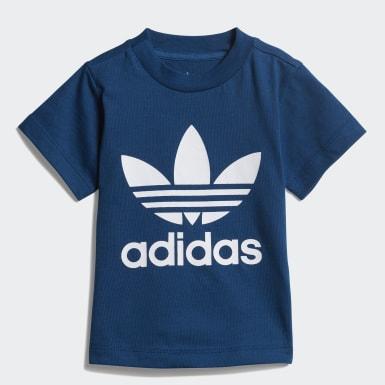 T-shirt Trefoil Bleu Garçons Originals