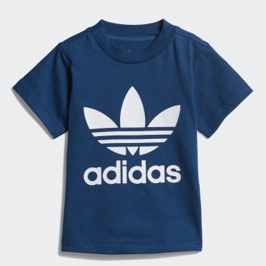 Boys Originals Blue Trefoil T-Shirt