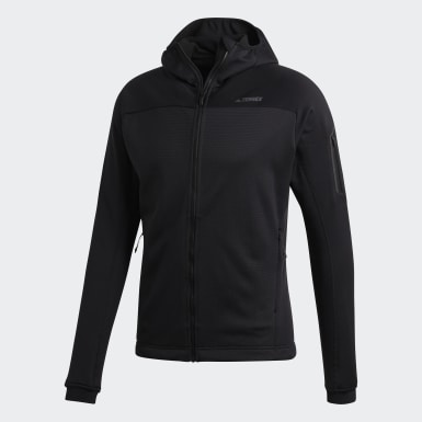 Men's Hiking Black Terrex Stockhorn Hooded Fleece Jacket