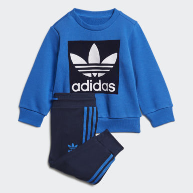 синий Комплект: свитшот и брюки Crew