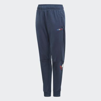 Děti Originals modrá Sportovní kalhoty Adicolor