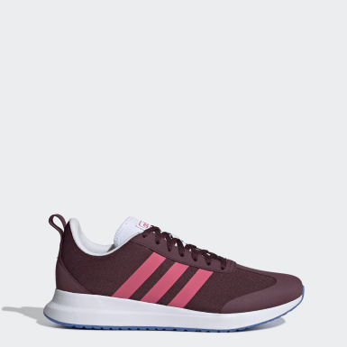 Women Sport Inspired Burgundy Run 60s Shoes